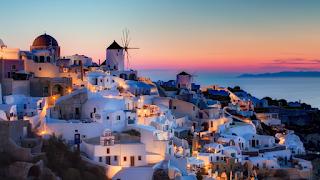 Pemandangan indah dari Yunani