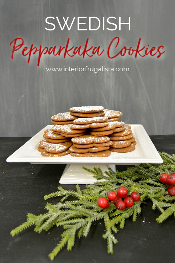 These mouth-watering Swedish Pepparkaka or Pepparkakor ginger cookies with soft centers are great for dipping and a family Christmas cookie tradition. #gingersnaprecipe #cookerecipe #christmascookierecipe #holidaybaking #swedishcookierecipe