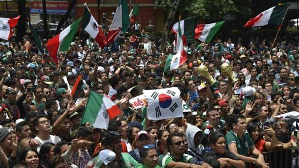 Jerman Tersingkir, Fans Meksiko dan Korsel Bersuka Cita