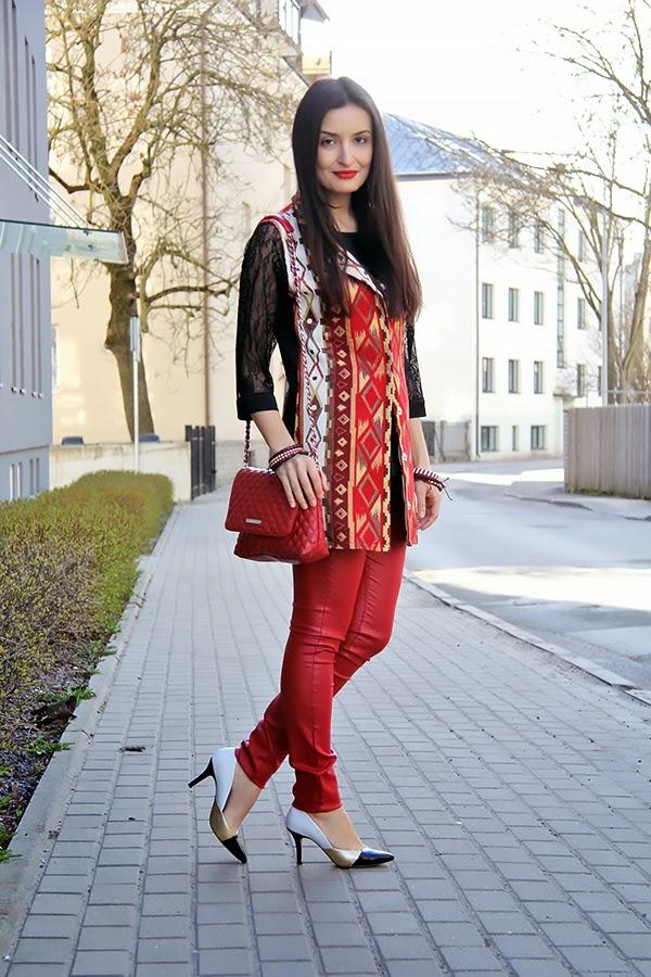 ethnic printed vest
