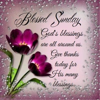 blessed sunday greetings