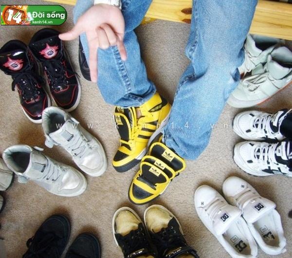 Bộ sưu tập giày sneaker tột đỉnh của anh chàng việt tại mỹ bạn nữ nào cũng m2ê