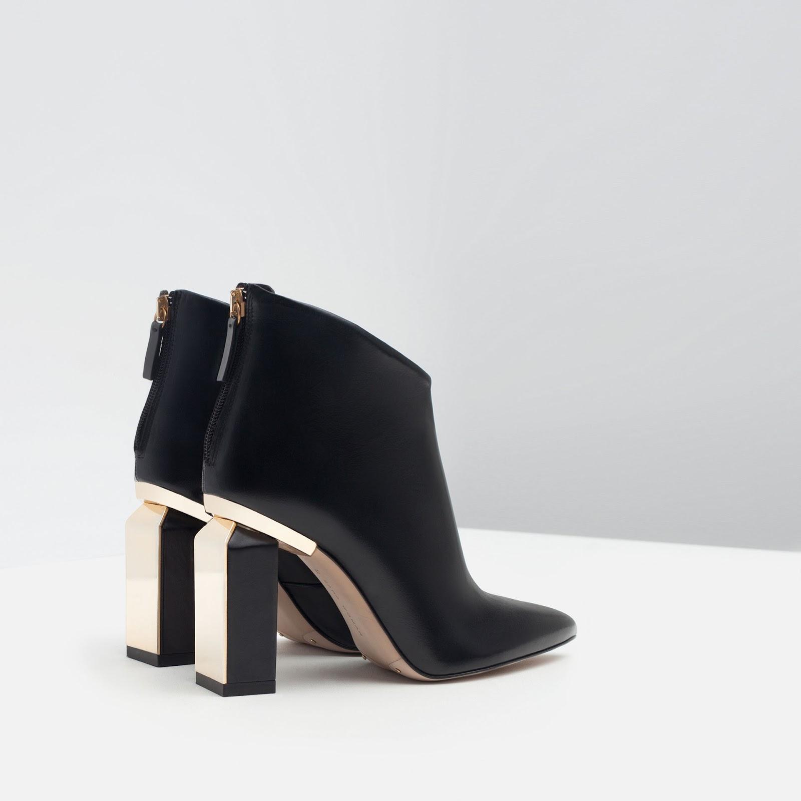 Zara Shoes Gold Heel