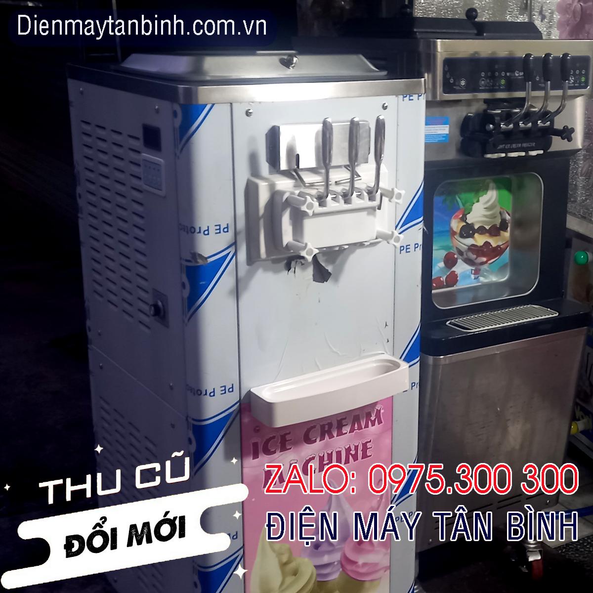 Bán thanh lý máy cũ và cho thuê máy làm kem tươi 3 vòi 2 lốc BQ336