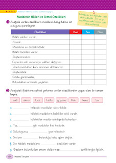 5. Sınıf Fen Bilimleri Ders Kitabı Cevapları Ada Sayfa 64