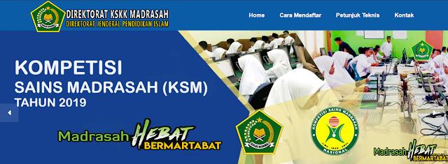 Pelaksanaan KSM (Komptesi Sains Madrasah) Nasional 2020