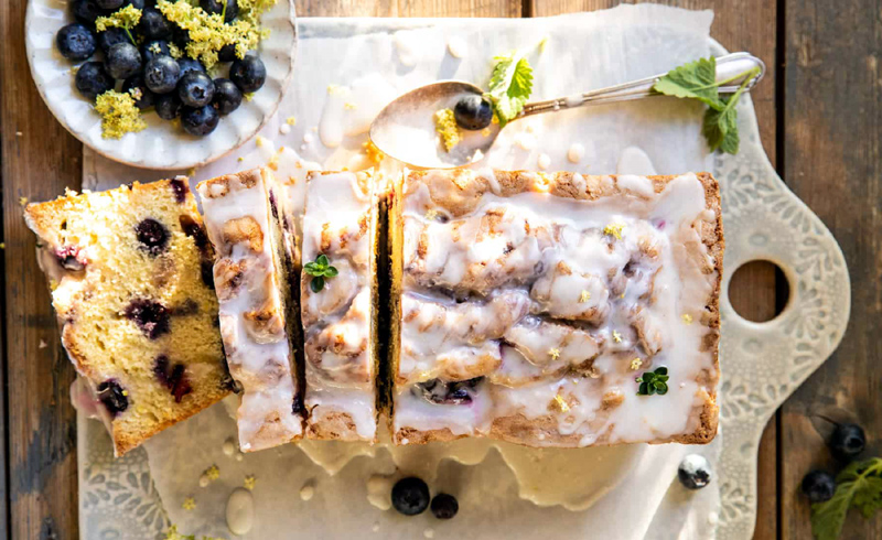 Swirled Blueberry Lemon Thyme Cake
