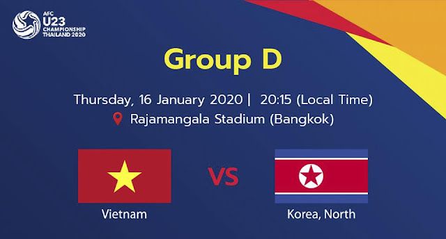 Live Streaming Vietnam vs North Korea AFC U23 (16.1.2020)