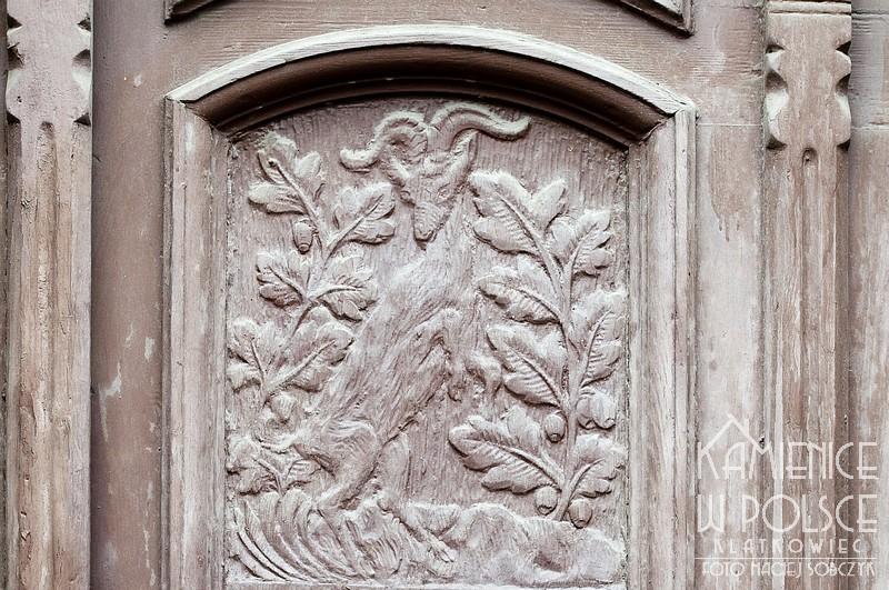 Wschowa: ozdobne drzwi