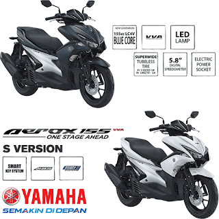 Pilihan Warna Yamaha Aerox 155 VVA S Version