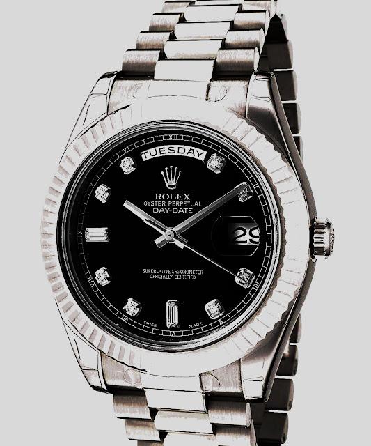 """أفضل ساعة رولكس مطلية بالفضة """"Day-Date II Silver Rolex"""""""