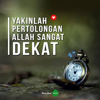 kata motivasi islampertolongan Allah itu dekat