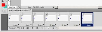 Contoh Hasil Duplikat Frame Animation 7 buah