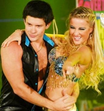 Foto de Mario Hart y Leslie Shaw en el Gran Show