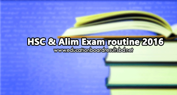 HSC exam routine pdf download 2016