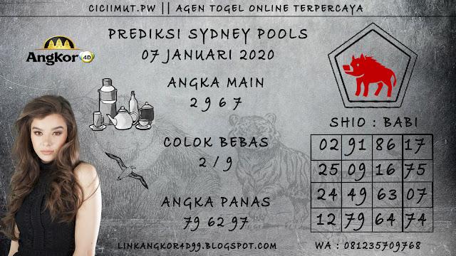 PREDIKSI SYDNEY POOLS 07 JANUARI 2020