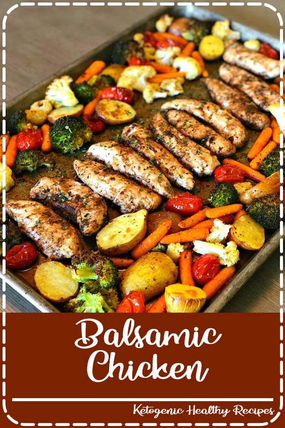 Let me introduce you to the perfect Summer meal Balsamic Chicken
