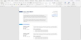 Exemple de CV WORD pour banque et Assurance à télécharger gratuit