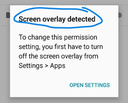 چۆنیەتی چارەسەر کردنی کێشەیەکی ئەندرۆید(screen overly)