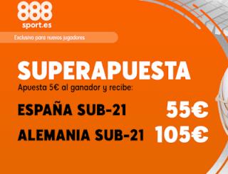 888sport superapuesta euro sub21 España vs Alemania 30 junio 2019