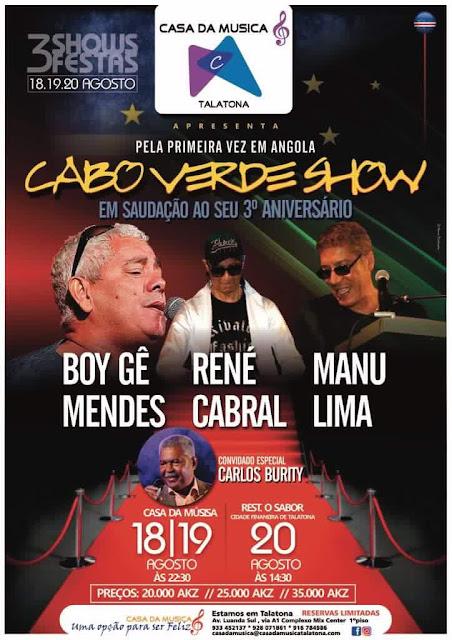 """A Banda """"Cabo Verde Show"""" estará pela primeira vez em Angola para a realização de três concertos!"""