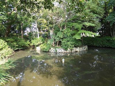 佐太天神宮 菅公水鏡の池