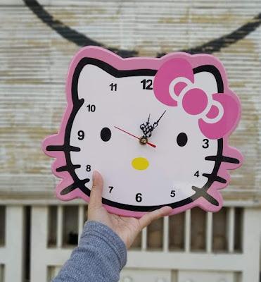 jual hiasan dinding jam hello kitty terbaru ~ hello shabby