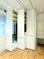Cool design built-in wardrobe idea for bedroom