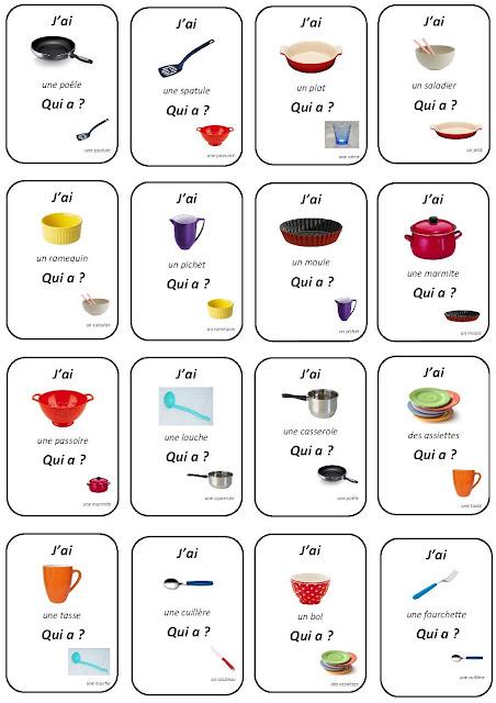 اسماء ادوات المطبخ بالفرنسية بالصور