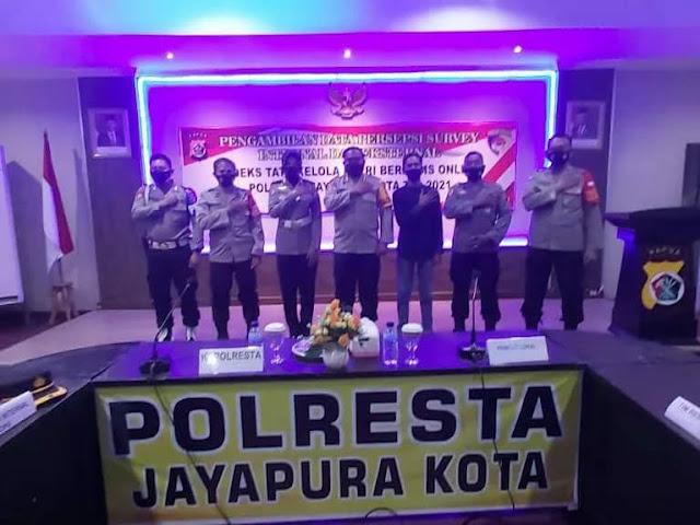 Polresta Jayapura Kota Gelar Survey Internal dan Eksternal ITK Polri TA 2021
