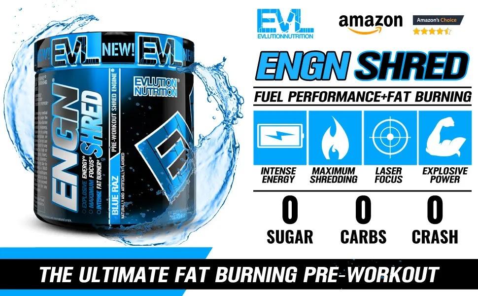 Evlution Nutrition ENGN Shred - Evl Pre Workout Shred