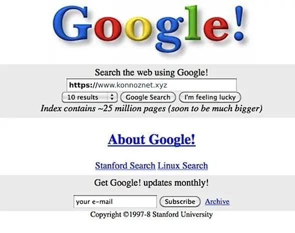 Google في عام 1998