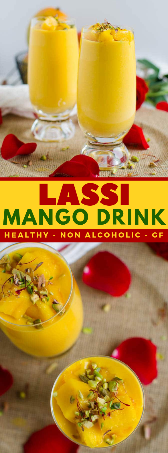 HEALTHY INDIAN MANGO LASSI #drinks #healthydrink