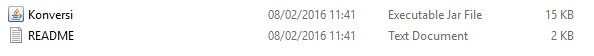 File jaj, hasil Compile dari Netbeans