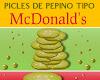 Picles de pepino tipo McDonald's