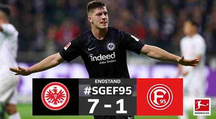 Hasil Frankfurt vs Dusseldorf Skor Akhir 7-1