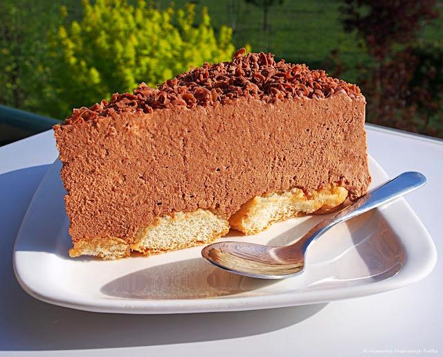 czekoladowy torcik musowy