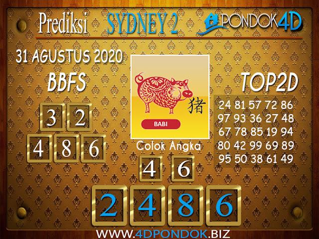 Prediksi Togel SYDNEY 2 PONDOK4D 31 AGUSTUS 2020
