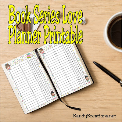 Remember to watch for your favorite book to come out with this book planner printable page.  It's great for helping to remind you what book you are on after waiting that everlasting year for the next book to come out in your favorite series.