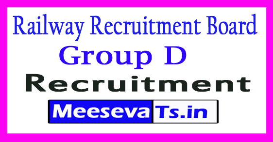 Raliway RRC Group D Recruitment 2017