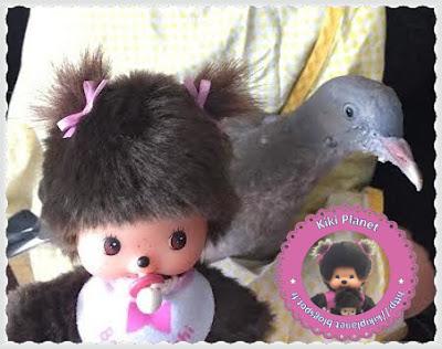 Maddy la Bebichhichi et Colombine le bébé pigeon - oisillon - pigeon - oiseau