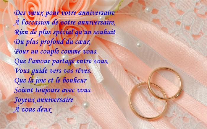 mot pour anniversaire de mariage 1 an