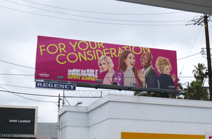 Kimmy Schmidt 2019 Emmy consideration billboard