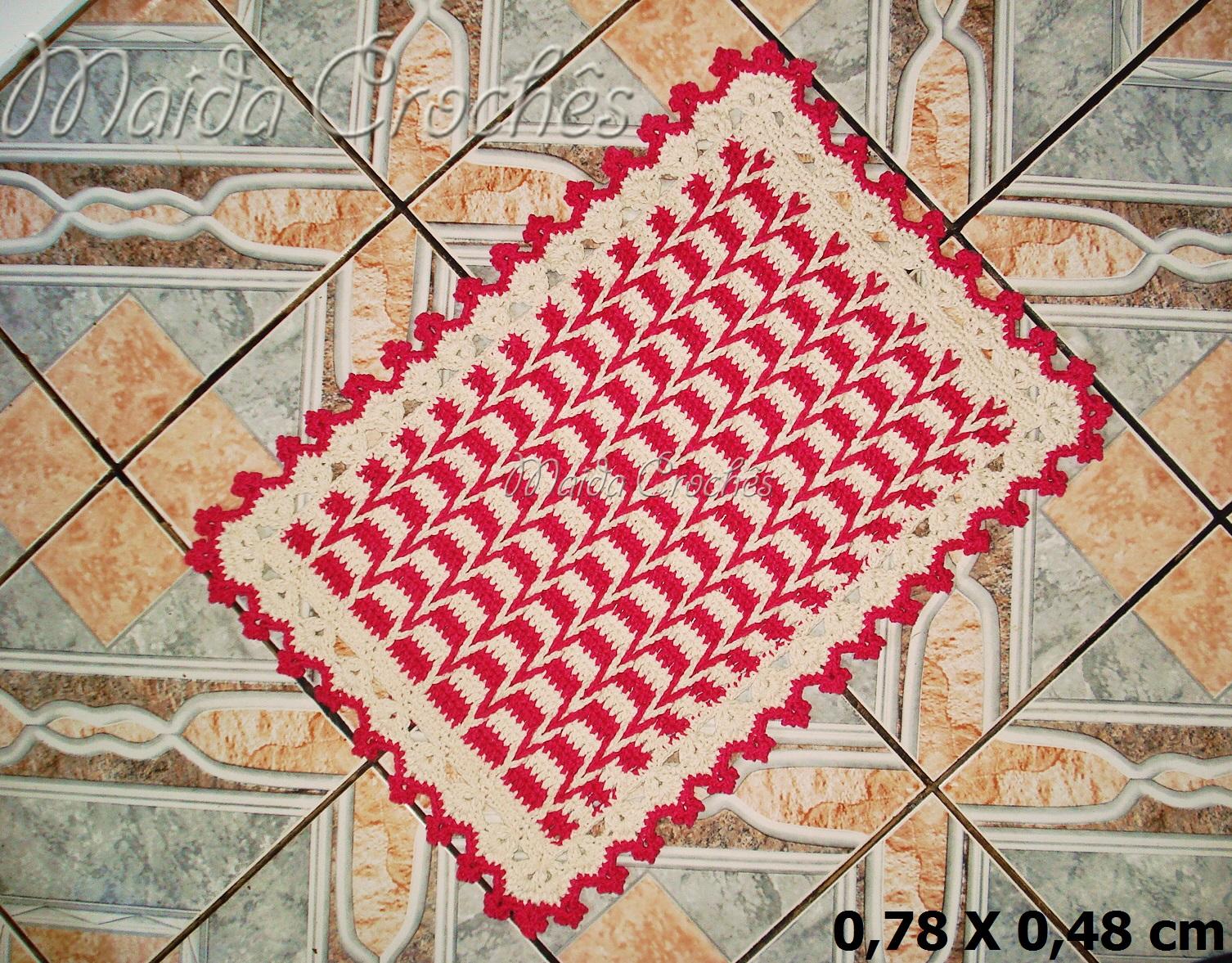 Conhecido Maida Crochês : Tapete de Trança em Crochê IB53