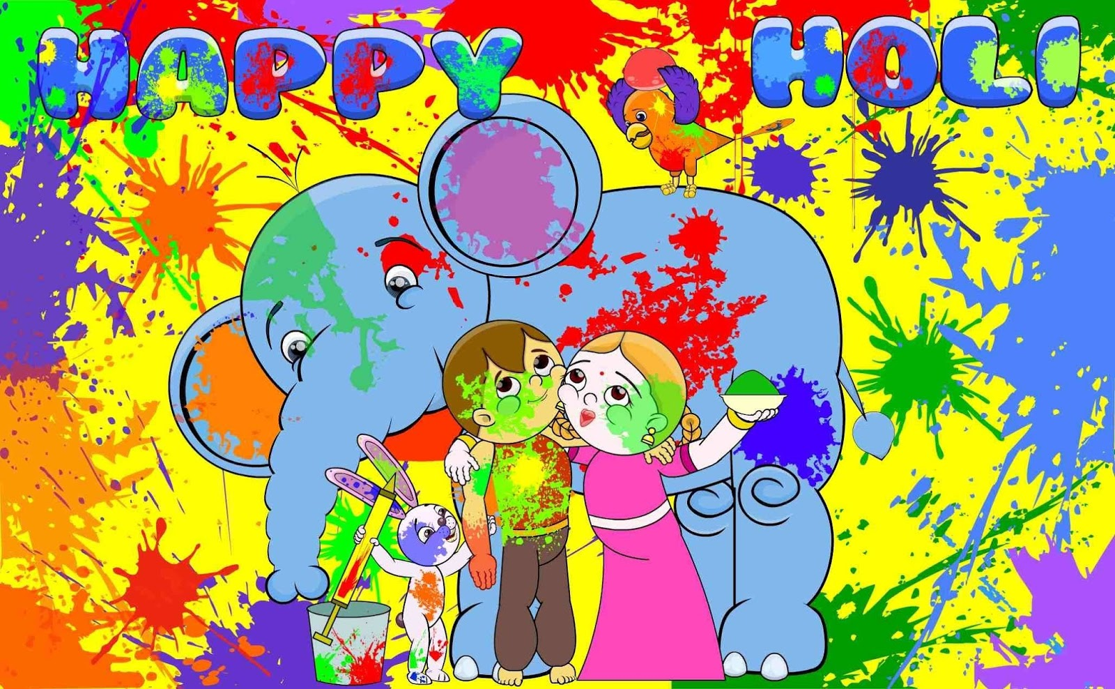 Holi Cartoon Pictures