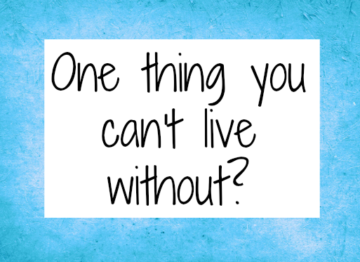 something i cant live without Originally answered: what is something you can't live without  what is one thing money can buy that you absolutely cannot live without.