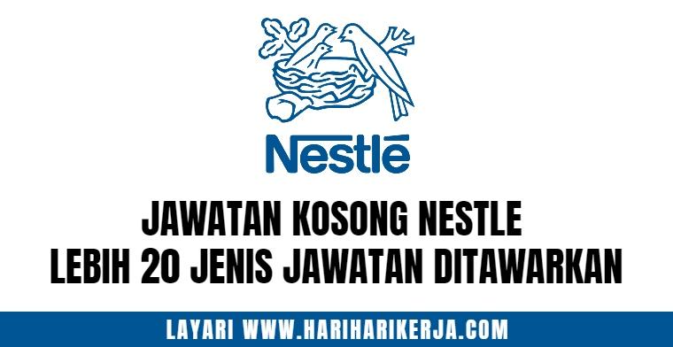 Jawatan Kosong Nestle 2021 ~ Lebih 20+ Jenis Jawatan Ditawarkan !