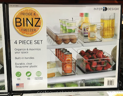 Keep your refrigerator organized with the InterDesign Fridge & Freezer Binz