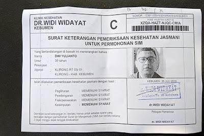 Perpanjang SIM C di Kebumen