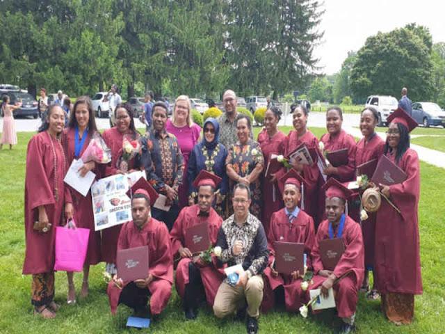 13 Pelajar Papua Juara dan Berprestasi di Akademi di Maryland